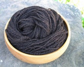 Extreme Chocolate, a rustic handspun Border Leicester/Alpaca blend, 2-ply yarn, 134 yards, worsted weight