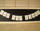 Vintage Letter Banner FUN AND GAMES