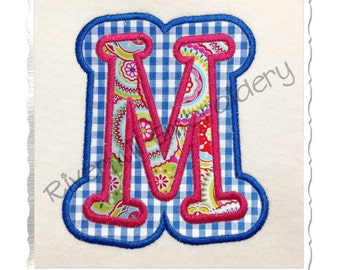 Double Applique Boyz R Gross Machine Embroidery Font Alphabet -  4 Sizes