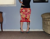 SALE Flowers In Bloom - A Floral Pencil Skirt