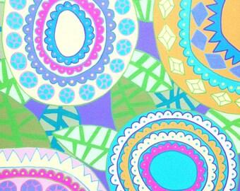 Kerri Ambrosino Art NEEDLEPOINT Mexican Folk Art  Pop Art Flowers Lavander Tropical Hawaiian