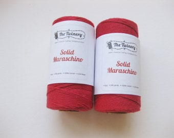 10 Yards of SOLID MARASCHINO - Red Bakers Twine