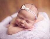 the Grace : Newborn Headband - Lilac - Newborn Photo Prop - halo, bow headband, head band, photography prop