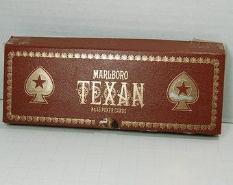 "Used Vintage  No. 45 Poker Cards ""Texan"" by Marlboro 1984"
