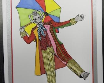 Dr Who 6th Cyberman Card