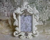 One Embellished Frame, White, Marie Line