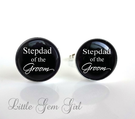 Wedding Gift For Step Dad : ... Dad Cuff Links - Gifts for Step Dad Stepfather - Wedding Keepsake Gift