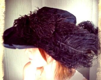 OSTRICH    ///   Edwardian Beaver Fur Hat