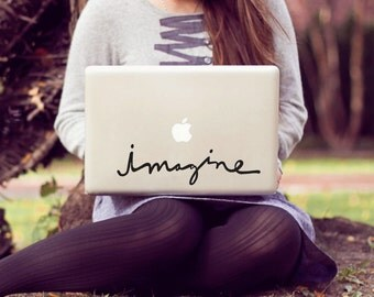 imagine large laptop decal