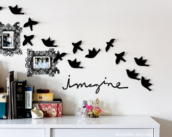 imagine wall decal
