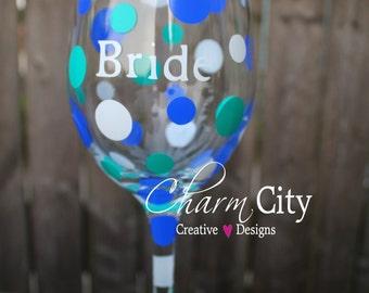 Bride Wine Glass Wedding Bride Bridal Bachelorette