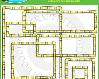 Yellow Checkered Borders & Frames