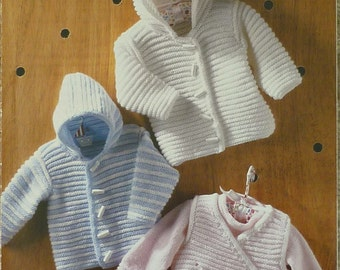 Baby Knitting Pattern K3013 Babies Jumper Jacket Body Warmer Knitting Pattern DK (Light Worsted) King Cole