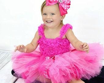 Minnie Mouse Tutu Set,  Minnie tutu, Girls tutu, Cake Smash, Baby tutu, Kids tutu, Birthday tutu, Girls clothing, Pink Tutu
