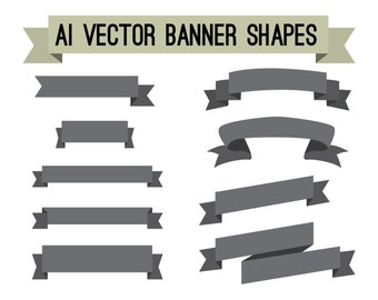 Adobe Illustrator AI vector banners digital clipart file - commercial use OK