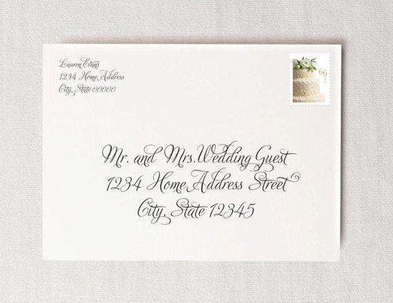 Wedding Invitation Envelope Calligraphy: 301 Moved Permanently