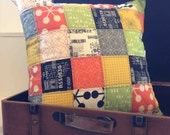 Quilted Square Pillow Cover Featuring Comma 18 x 18