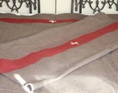 2 Authentic Swiss Army Style Blankets // Swiss Army Blankets // Swiss Army Wool Blanket