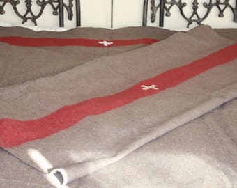 Swiss Army Blanket  // Wool Beach Blanket // Cabin Blanket
