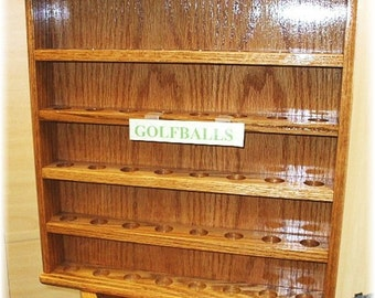 Golf Ball Oak  Display Cases (FREE SHIPPING)