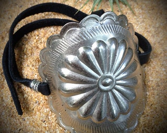 Silver Southwest Concho Bracelet