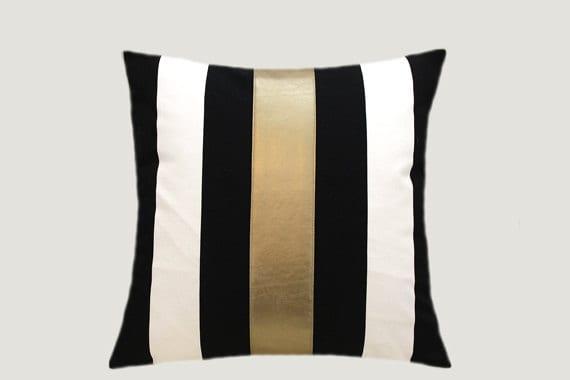 Decorative Pillows Cotton Black-White Throw pillow case with