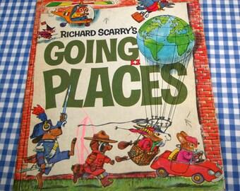 SALE richard scarry's going places, vintage 1971 children's book