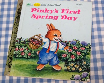 pinky's first spring day, vintage 1990 children's book