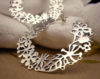 Sterling Silver Hoop Earrings  'Spring' - FREE Shipping