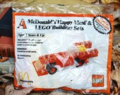 Vintage 1986 McDonald's Happy Meal & LEGO Building Sets