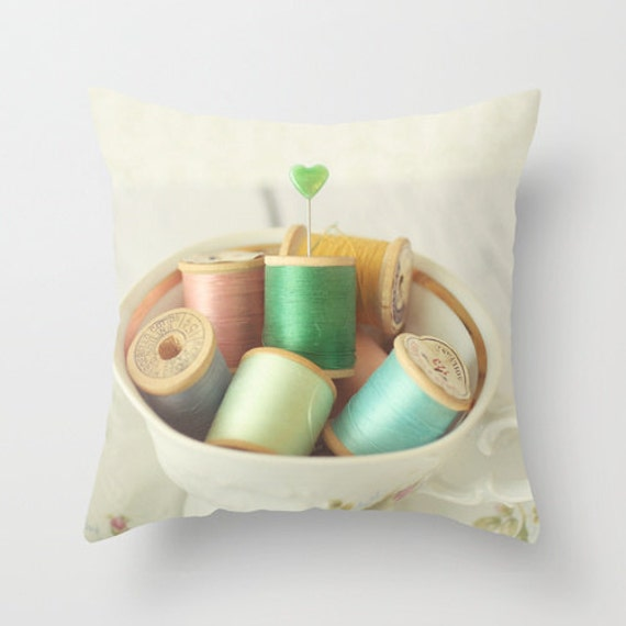 Items similar to Decorative Pillow Cover, Photo Pillow Case Accent Pillow Case Cup Of Vintage ...