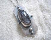 Dendritic Quartz, Dendrite Pendant, Dendritic Quartz Jewelry, Silver Necklace