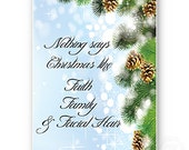 Duck Dynasty Christmas Card Jase quote card Duck Dynasty Greeting Card