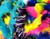 1lb Assorted Monster Fur scraps// rainbow, 3tone, natural, glitter & more