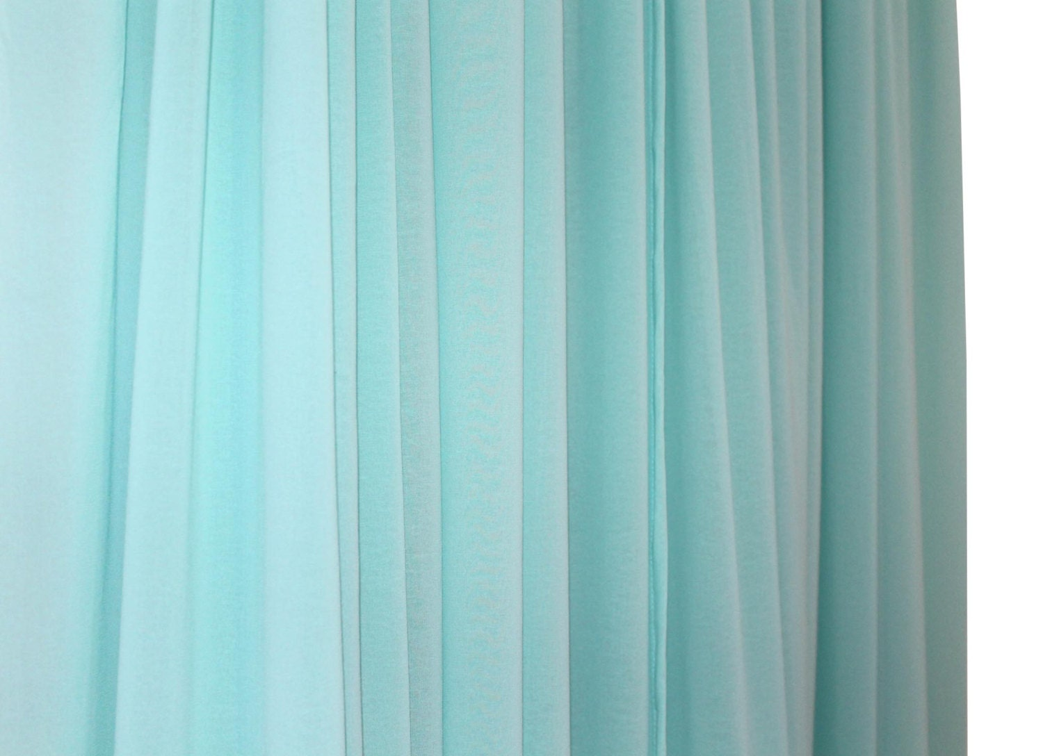 Turquoise sheer curtains -  Zoom