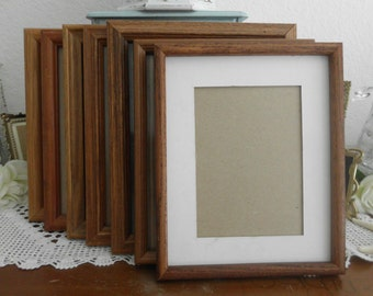 vintage solid wood frame assorted 8 x 10 rustic wedding decor pick your own photo picture - Wooden Picture Frames Cheap