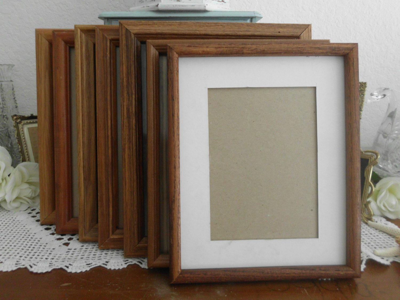 Vintage Solid Wood Frame Assorted 8 x 10 Rustic Wedding ... Plain Wooden Frame