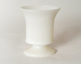 Vintage Milk Glass Vase from E. O. Brody Co.