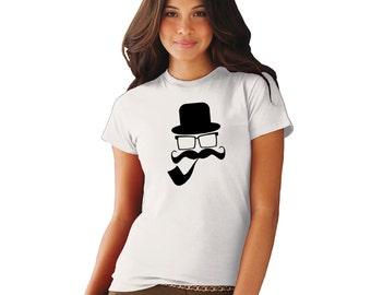 Womens Mustache Man T Shirt