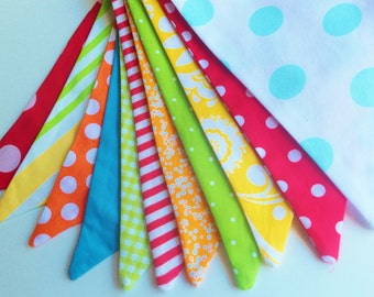 Bunting Banner Fabric Flags, Birthday Bannner, Birthday Party Bunting, Birthday Party Decoration, Birthday Party Banner Bunting