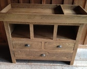 Aged Oak Changing Table