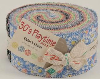 30's Playtime Fabric Collection by Chloe's Closet for Moda Fabrics - 1 Jelly Roll