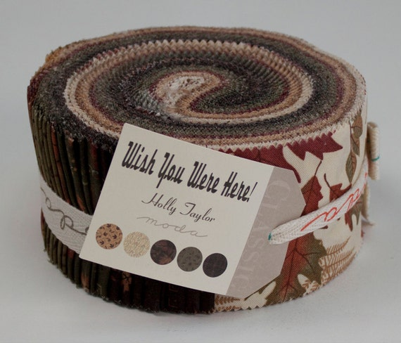 Wish You Were Here Fabric Collection by Holly Taylor for Moda - 1 Jelly Roll