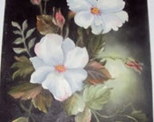 White Flowers Oil Painting 11 x 14 REDUCED