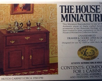 Dollhouse Hutch Cabinet No 40003 Doll Furniture House of Miniatures  40003