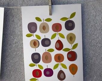 Plums- ciruelas - Digital Image Download - printable kitchen poster