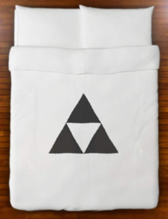 Legend of Zelda Triforce Duvet Cover Bedding Queen King Twin