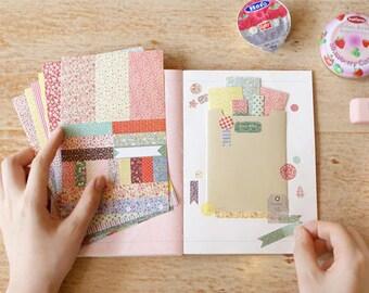 Petit DECO STICKER Set for Cupcake Topper, Scrapbook, Journaling, DIY: 8 Sheets (Floral Pattern, Gingham, Polka Dot, Plant Label)