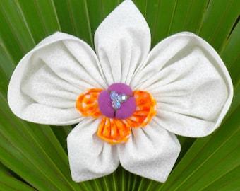 Kanzashi Flowers Pin Brooch Orchid Pattern PDF Pattern Tutorial Fabric Flower Headbands Phaleanopsis Bouquet Embellishment Wedding La Todera
