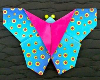 Kanzashi Butterfly Pattern, Fabric Origami Butterfly Tutorial, Fabric Butterfly Brooch, DIY Wedding Flowers, DIY Butterfly Hair Clip